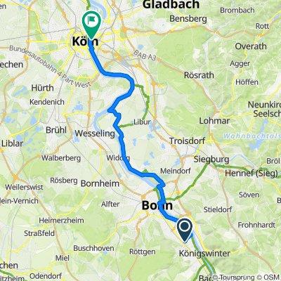 Neuss - Königswinter - Köln, Kollegentour 2017 Tag 3