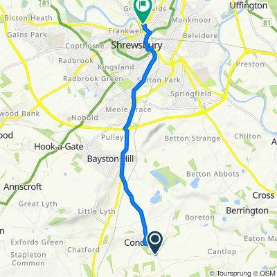 20 Hall Gardens, Shrewsbury to 19 Benbow Quay, Shrewsbury