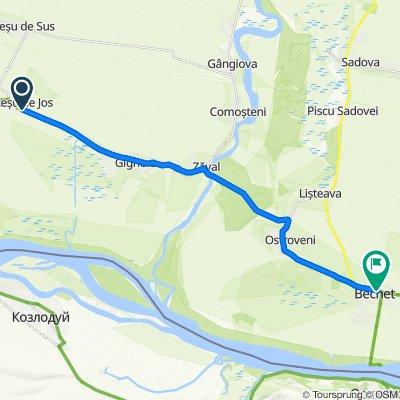 Route nach Strada Vlad Țepeș 75, Bechet