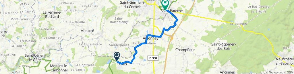 De Route de Gesnes, Bérus à 37 Avenue Jean Mantelet, Alençon