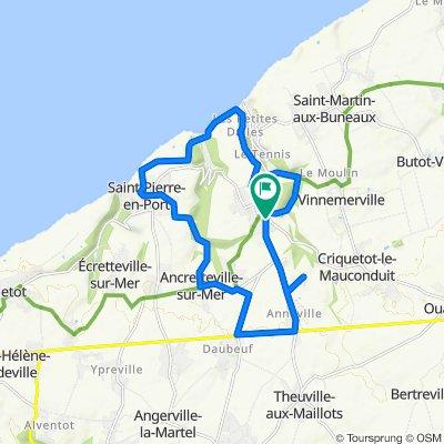 Route de Criquetot 2, Sassetot-le-Mauconduit naar Route de Criquetot 2, Sassetot-le-Mauconduit