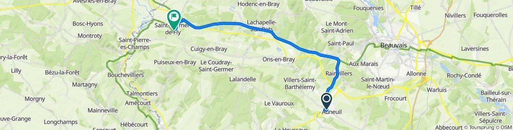 De 81 Rue de la Gare, Auneuil à 7–25 Place de l'Abbaye, Saint-Germer-de-Fly