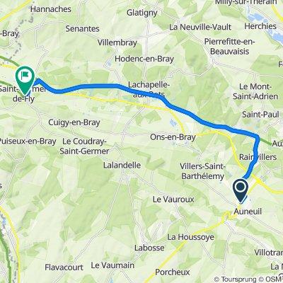 De 443 Route de Beauvais, Auneuil à 7–25 Place de l'Abbaye, Saint-Germer-de-Fly
