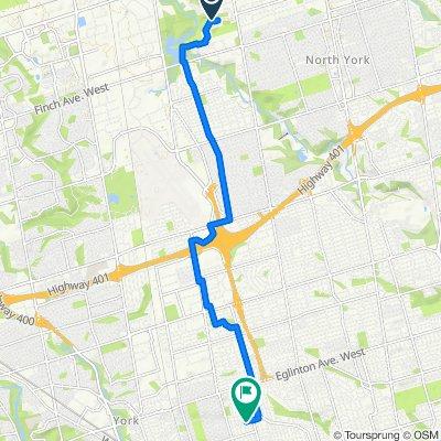 135 Torresdale Ave, Toronto to 25 Jesmond Ave, Toronto