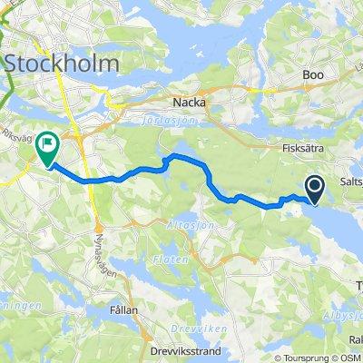 Hermansdal, Saltsjöbaden nach Livlandsgatan 130, Stockholm