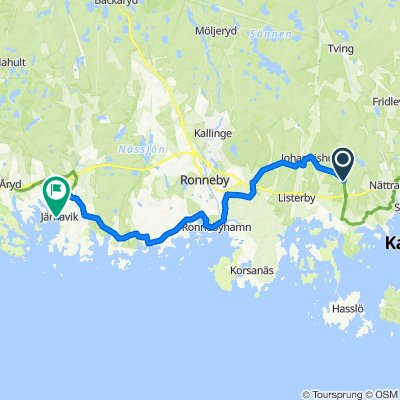 Grevavägen to Järnaviks brygga