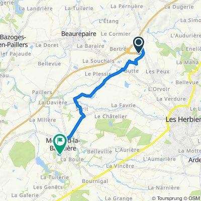 De Parking, Les Herbiers à 1 Rue de la Bellotrie, Mesnard-la-Barotière