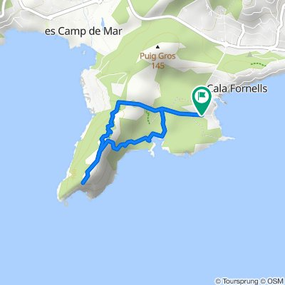 Mallorca a peu: cap Andritxol i caló des Monjo