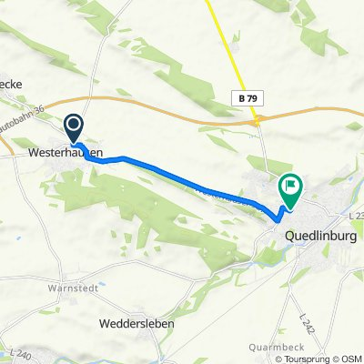Halberstädter Straße 259, Thale nach Neuendorf 1, Quedlinburg
