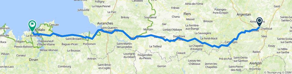 De 54A Gare de Surdon, Le Château-d'Almenêches à 28 Boulevard Féart, Dinard