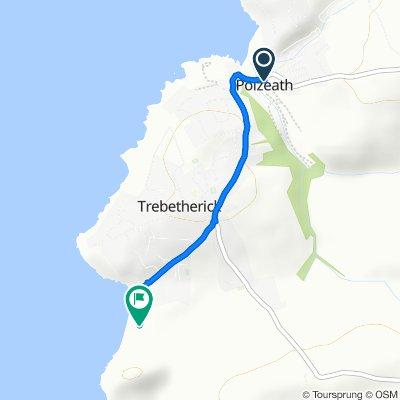 Route from North Cornish Coast, Wadebridge
