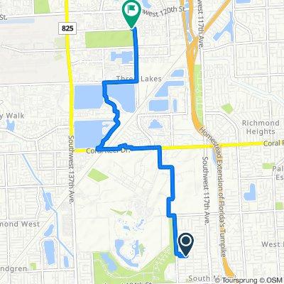 11960 SW 177th Terr, Miami to 12701 SW 124th St, Miami