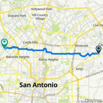 7011 Beech Trail Dr, San Antonio to 7411 John Smith Dr, San Antonio