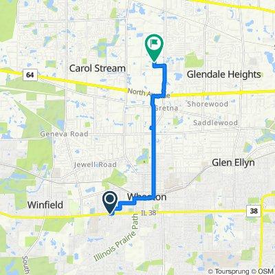 W Roosevelt Rd, Wheaton to 550 E Fullerton Ave, Carol Stream