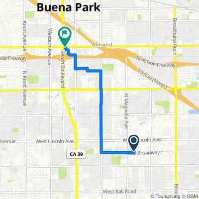 231 S Gain St, Anaheim to 7775–7795 Orangethorpe Ave, Buena Park