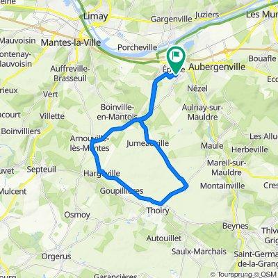 High-speed route in Epône