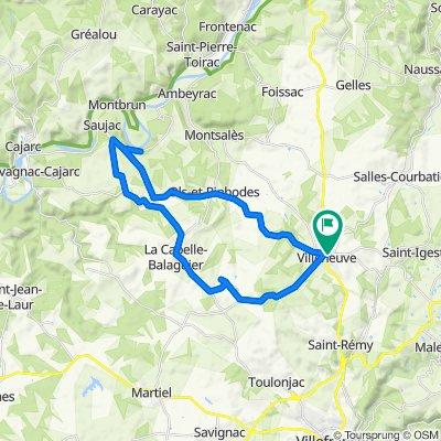 Villeneuve-La Mounine via Ste-Croix