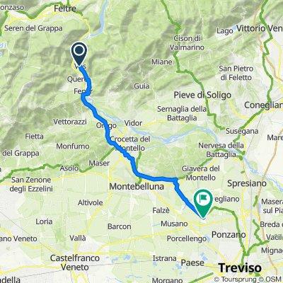 Restful route in Scuole Campagna