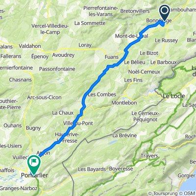 5 Chemin de l'Étange du Moulin, Bonnétage nach 71 Rue de la République, Pontarlier