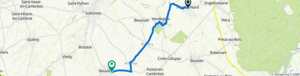 1 Rue de la République, Poix-du-Nord nach 59D Route Nationale, Neuvilly