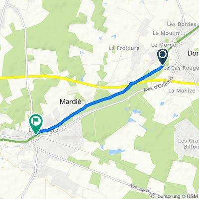 Itinéraire vers 266–470 Rue de Genon, Mardié