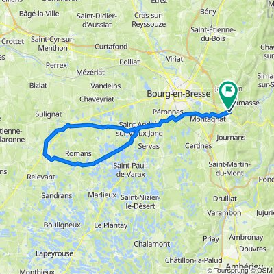 Itinéraire à partir de 182 Chemin de Schall, Ceyzériat