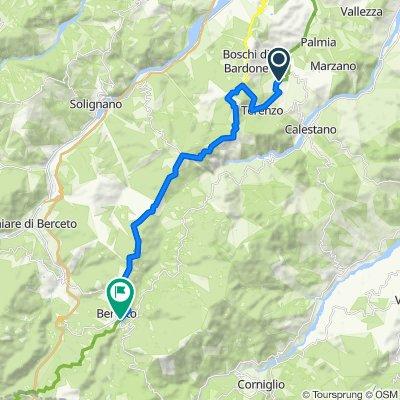 Località Bardone 40, Bardone nach Via Nazionale 12–20, Berceto
