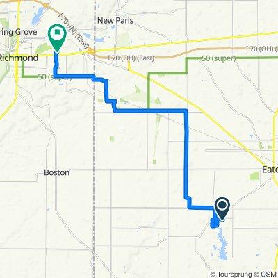 575 Skodborg Dr, Eaton to 3718 US-40 W, Richmond
