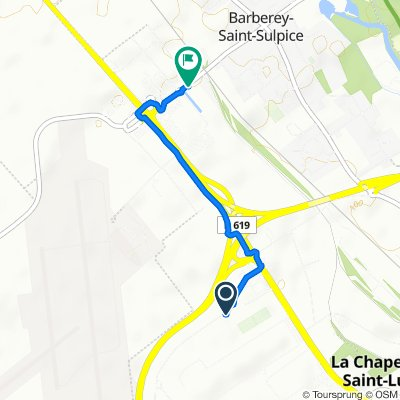 De Rue Jean Baptiste Colbert 89, La Chapelle-Saint-Luc à Rue de la Gare 35, Barberey-Saint-Sulpice