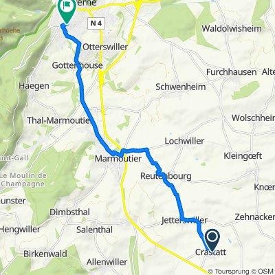 Itinéraire modéré en Crastatt