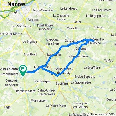 De Allée du Rayon d'Or 1, Saint-Philbert-de-Bouaine à Rue Saint-Philbert 2, Saint-Philbert-de-Bouaine