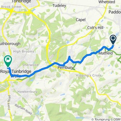 Maidstone Road, Tonbridge to 1 William Street, Tunbridge Wells
