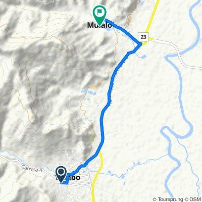 De Carrera 6 3-100–3-2, Yumbo a Mulalo, Yumbo