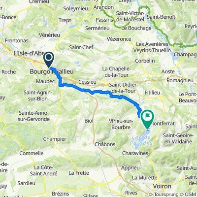 De 1 Place Louis Perregaux, Bourgoin-Jallieu à 598 Rue du Petit Port, Paladru