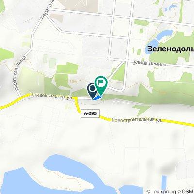 От Привокзальная улица, Зеленодольск до Почтовая улица, Зеленодольск