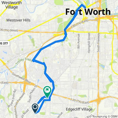 Supersonic route in Fort Worth