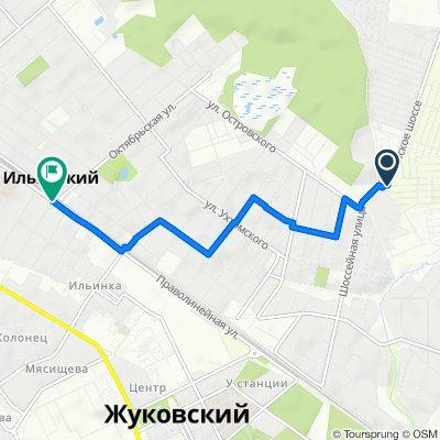 От 4-я садовая улица 128, Кратово до Ильинская, Ильинский