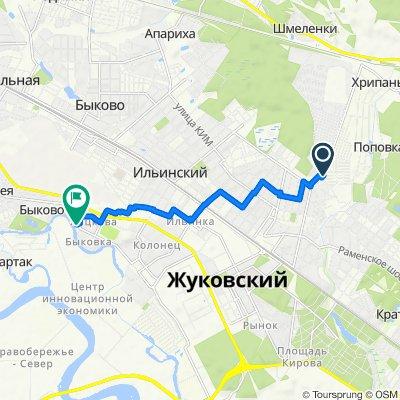 От 4-я садовая улица 158, Кратово до улица Келдыша 1, Жуковский