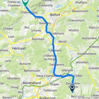 Itinéraire à partir de 18 Rue des Flandres, Beaucourt