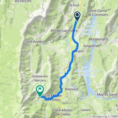 Itinéraire vers D8a, Gresse-en-Vercors