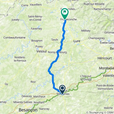 France: Baume-les-Dames to Luxeuil-les-Bains