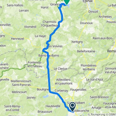 France: Luxeuil-les-Bains to Chaumousey