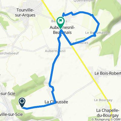 Easy ride in Crosville-sur-Scie