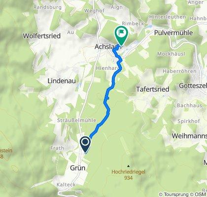 Grün 3, Achslach nach Am Kirchenfeld 14, Achslach