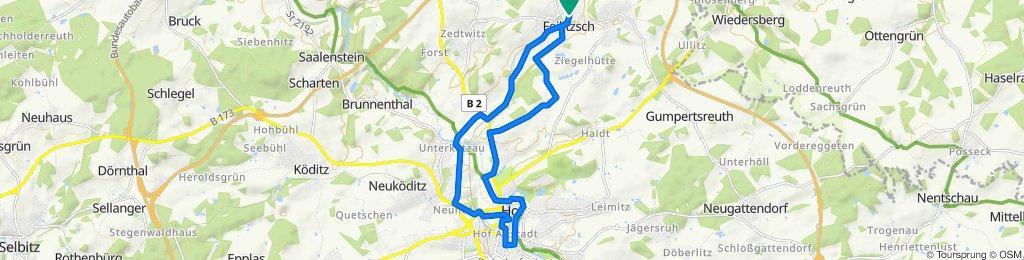 Steinweg 2, Feilitzsch nach Steinweg 3, Feilitzsch