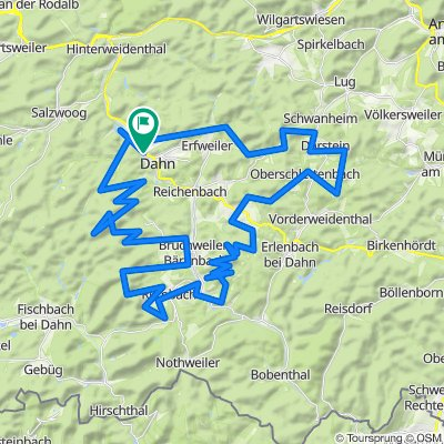 Mountainbiketour 13 Dahn (Dahn-Mitte)
