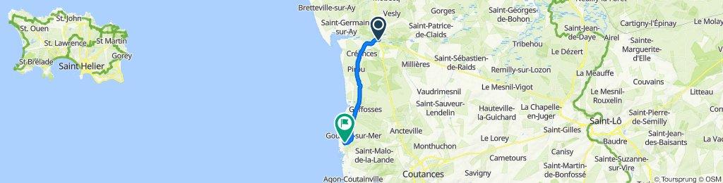 De 8 Rue Louis Beuve, Lessay à Rue des Hougues, Gouville-sur-Mer