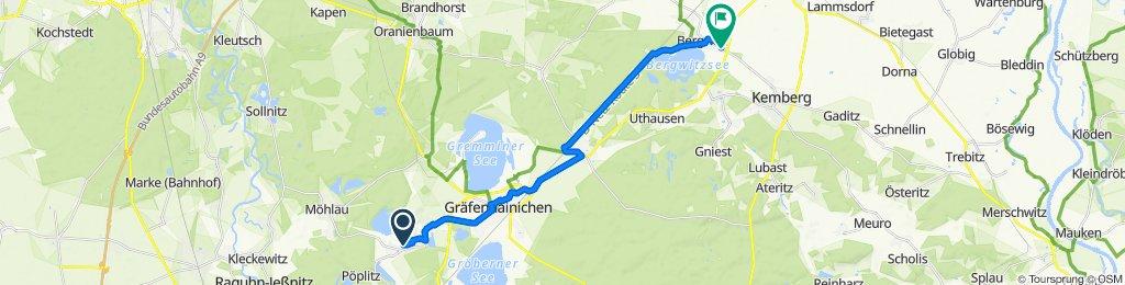 Kraftwerkstraße 9, Gräfenhainichen nach Lindenstraße 53, Kemberg