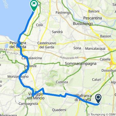 Da Via San Giovanni 8, Povegliano Veronese a Viale la Quercia, Lazise