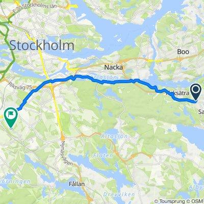 Stockholmsvägen, Saltsjöbaden do Ripsavägen 23, Sztokholm